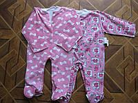 Детские  цветные байковые комбинезоны- человечки   для деток - 74 . см Украина