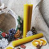 Натуральные свечи из воска  - 26х3 см (1 шт), фото 4