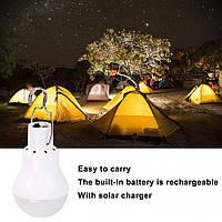 Светодиодная лампа 12 LED на солнечной батарее с мини-USB