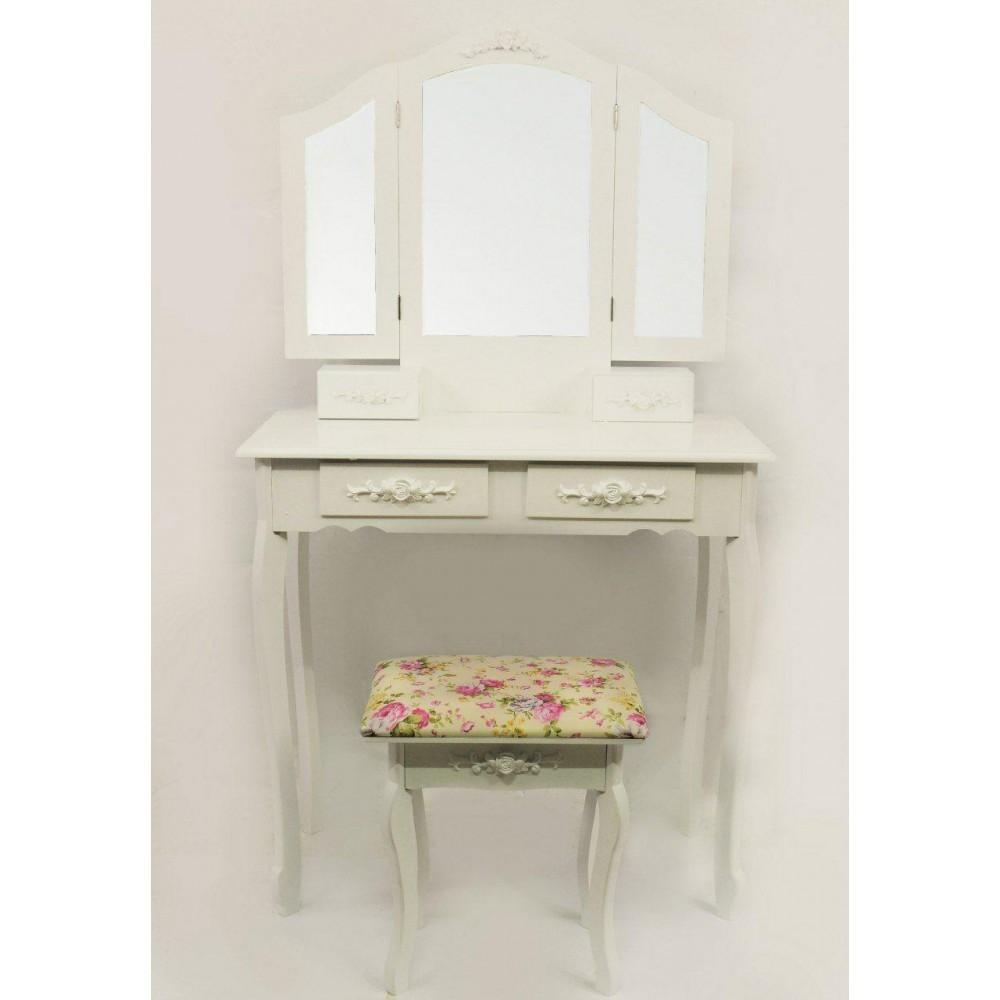 Стіл косметичний з дзеркалом і стільцем Bonro B005W туалетний столик