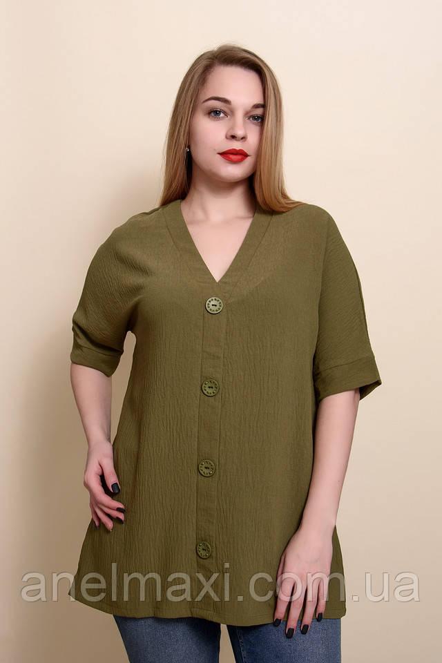 Модная футболка большого размера