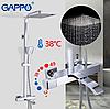Душова система з верхнім душем, термостатом і ручної лійкою, Gappo Jacob G2407-40, фото 3