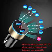 USB зарядное устройство  в  авто, вольтметр, амперметр 3 в 1