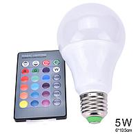 Лампа с пультом управления Е27 5W RGB LED