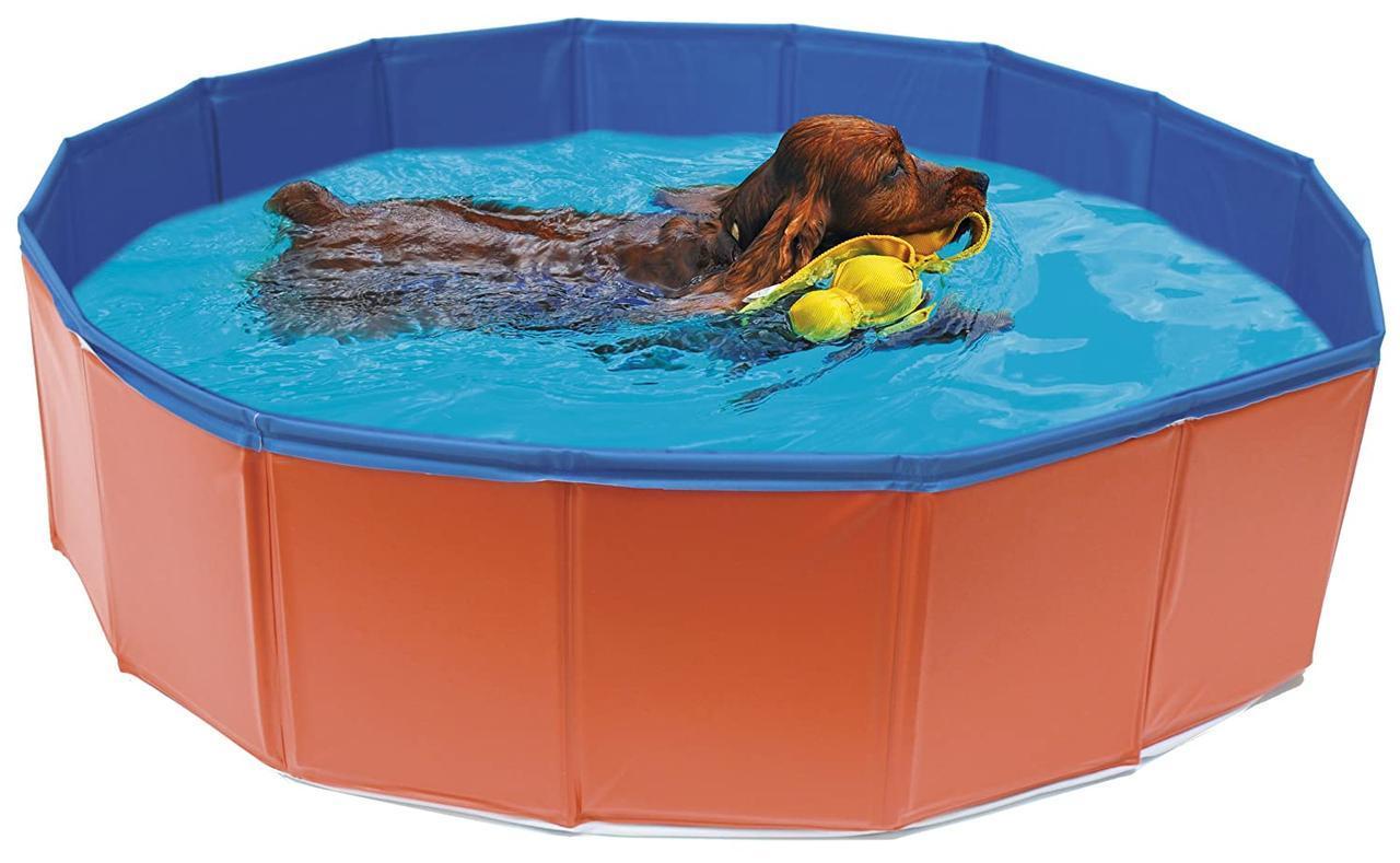 Бассейн для собак CROCI PISCINA, каркасный, винил, d-120х30см