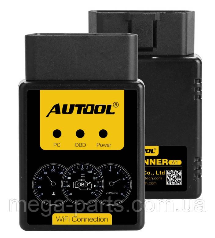 Автосканер AUTOOL A1 ELM327 V1.5 WIFI OBD2 Android/Ios/Windows, лучше чем ELM327