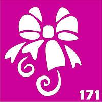 Бант-цветок - трафарет для био тату