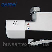 Душова система з верхнім душем, термостатом, виливши є перемикачем на лійку білий / хром G2407-50, фото 2