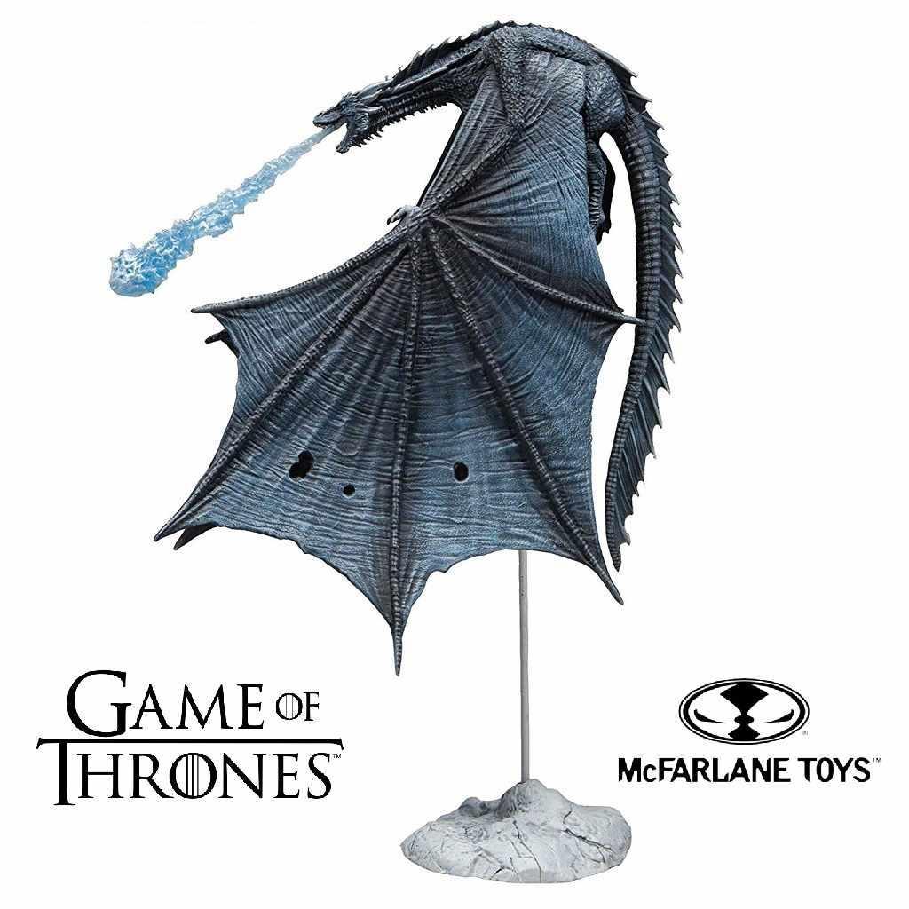 Колекційна фігурка крижаного дракона Визерион Гра Престолів - Viserion, Game of Thrones, Deluxe, McFarlane