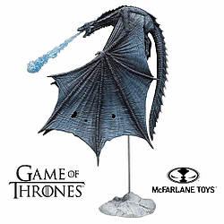 Коллекционная фигурка ледяного дракона Визерион Игра Престолов - Viserion, Game of Thrones, Deluxe, McFarlane