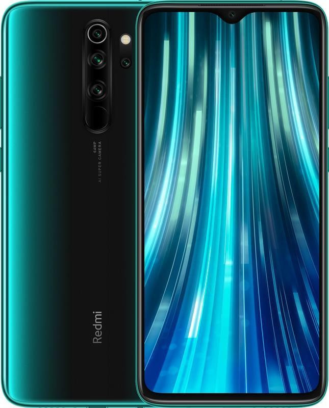 "Смартфон Xiaomi Redmi Note 8 Pro 6/64GB Dual Sim Forest Green; 6.53"" (2340х1080) IPS / MediaTek Helio G90T / ОЗУ 6 ГБ / 64 ГБ встроенной + microSD до"