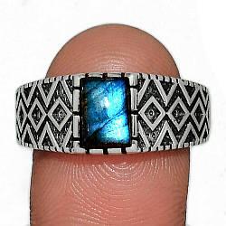 Серебряное кольцо с лабрадором, 2299КЦЛ