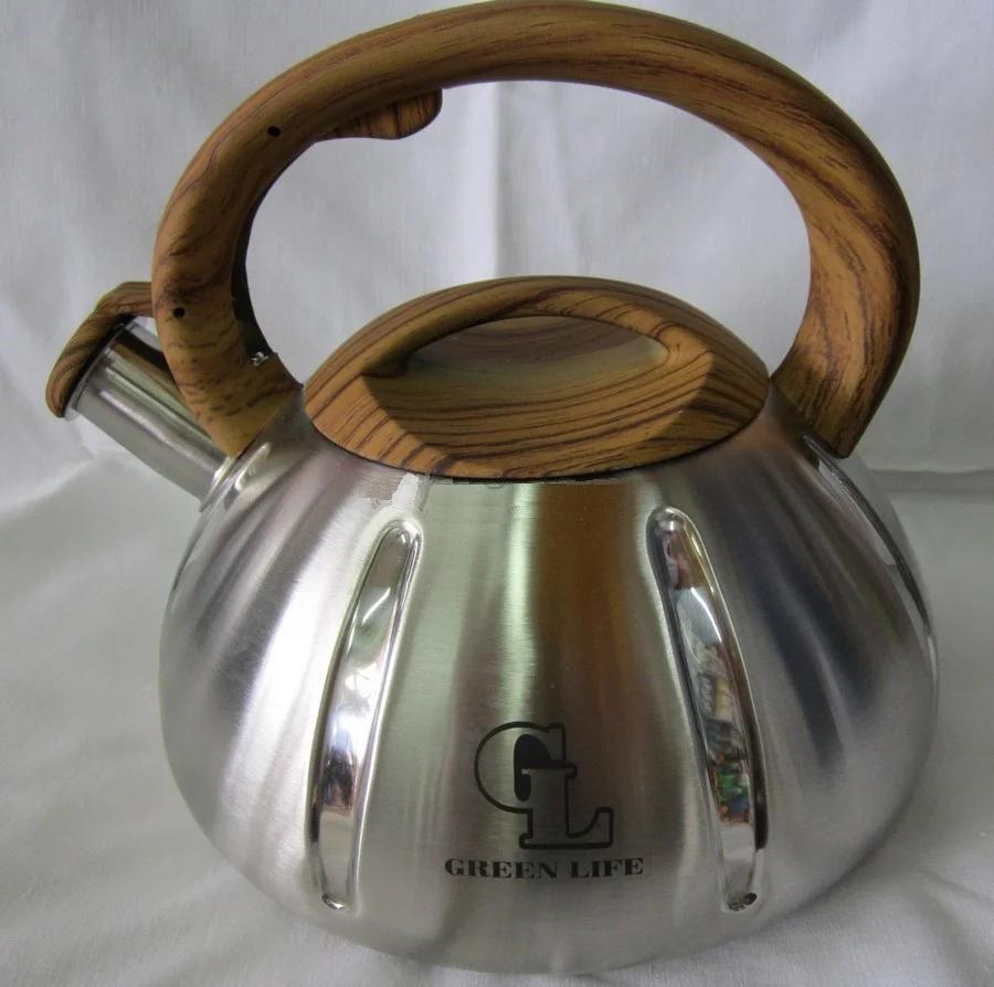 Чайник со свистком 3,0л Green Life GL-5203BR