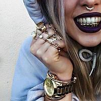 Грилзы Grilz зубы накладные 8 зубов золотые