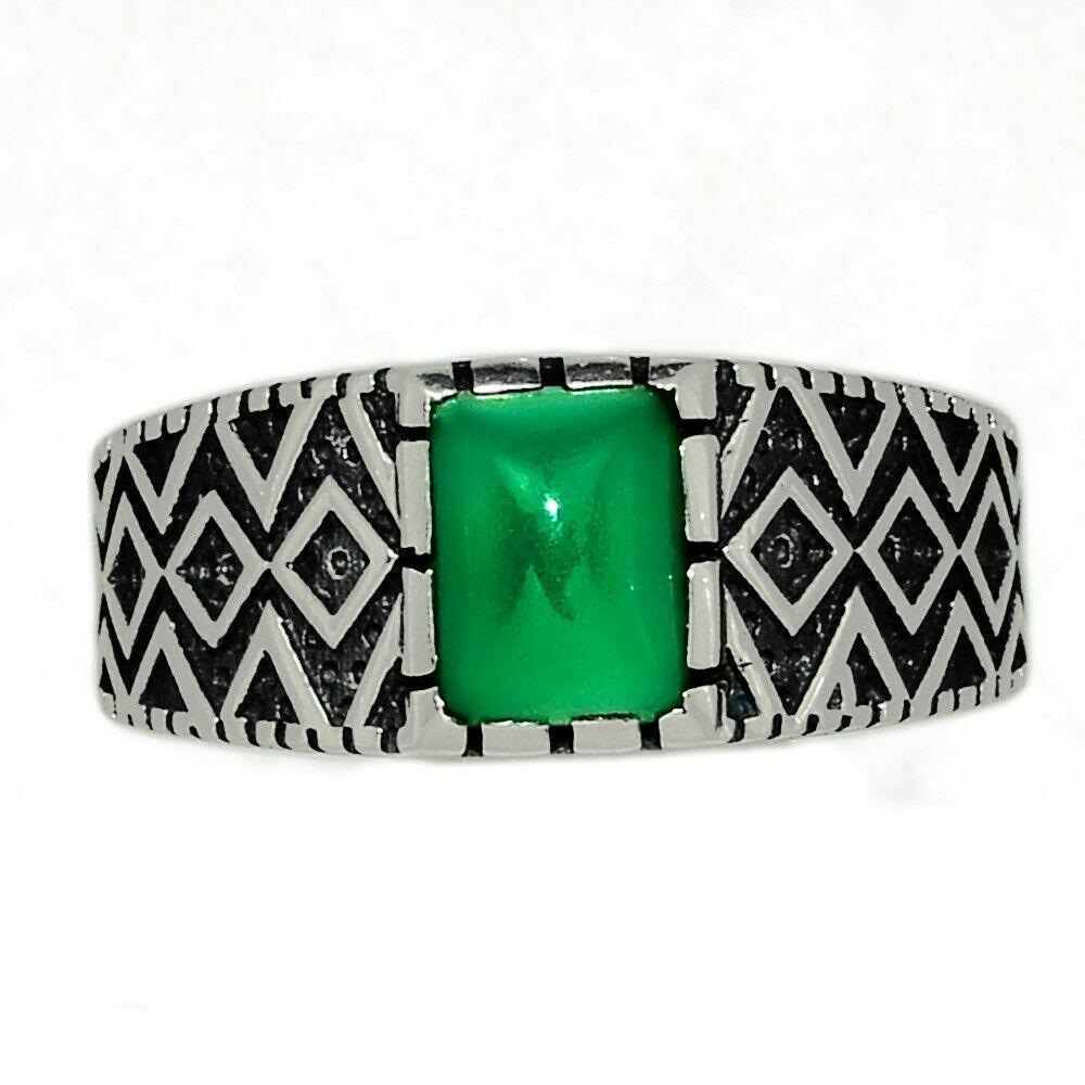 Срібне кільце із зеленим оніксом, 2300КЦО