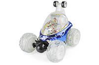 Машина перевертыш игрушка для детей на пульте управления трюковая синий