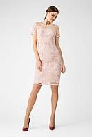 Жіноча сукня коктельна в паєтки  FL 1158  Пудровий (36-50) 44