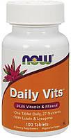 Витаминно-минеральный комплекс NOW® Daily Vits 100 tab