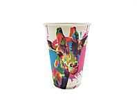 Бумажные стаканы Сафари 340мл. 50шт.уп (1ящ/35уп/1750шт) кр79-80