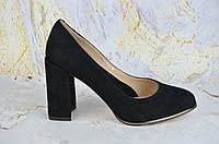 Замшевые туфли женские на каблуке Lady Marcia