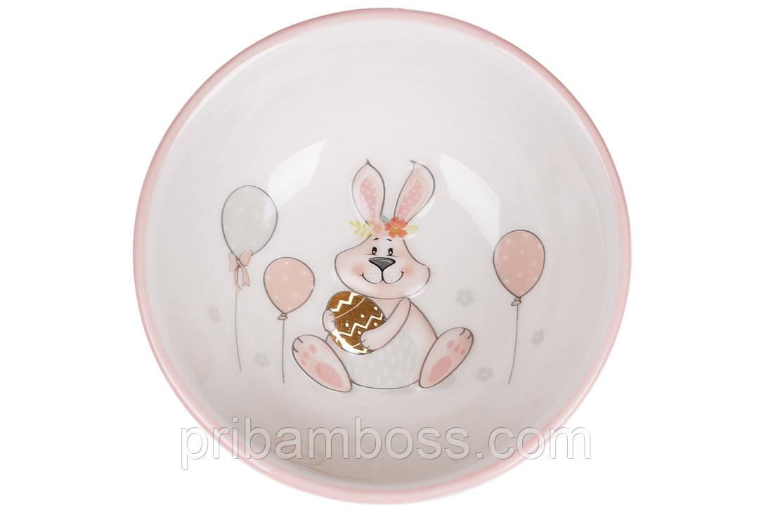 Пиала 280 мл с объемным рисунком Веселый кролик