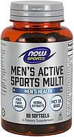Комплекс витаминов и минералов для мужчин NOW Men's Active Sports Multi 90 softgel