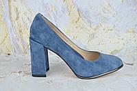 Замшевые женские туфли на каблуке Lady Marcia ДЖИНС