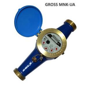 Лічильник холодної води Gross MNK-UA DN15 (номін. витрата 2,5 м3/год, мокроход), фото 2