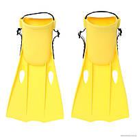 Ласты Intex, пластик, резина, р-р S-35-37, желтый (55936)