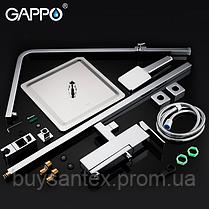 Душова система виливши є перемикачем на лійку хром Gappo Futura G2418, фото 2