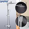 Душова система виливши є перемикачем на лійку хром Gappo Futura G2418, фото 3