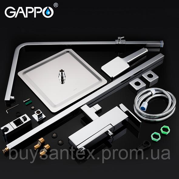 Душова система виливши є перемикачем на лійку хром Gappo Futura G2418