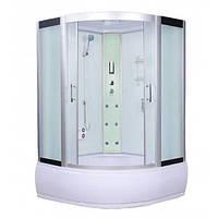 Гидробокс Atlantis AKL1318(XL) 150х150 глубокий поддон, матовое стекло