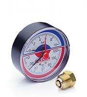 Термоманометр аксиальный 0-4 bar Koer KM.802A D=80 мм 1/2''