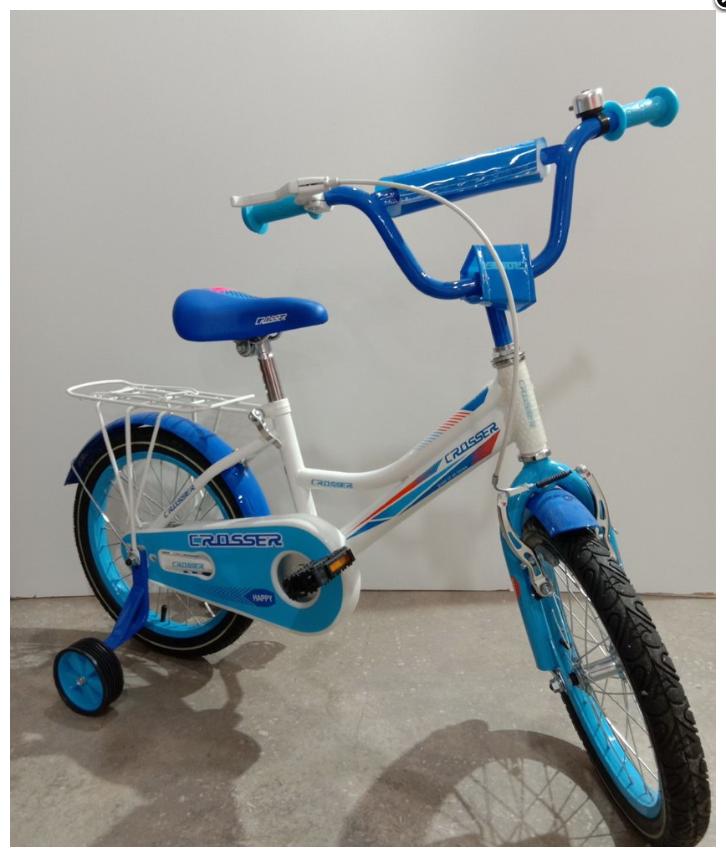 Детский двухколесный велосипед Happy Crosser 4 синий 14 дюймов