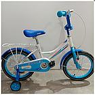 Детский двухколесный велосипед Happy Crosser 4 синий 14 дюймов, фото 2