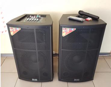 Акустические колонки Rock Music 2х100Вт 12 дюймов 72x42x38см USB/SD/FM/BT/1MIC L/R RC-1200