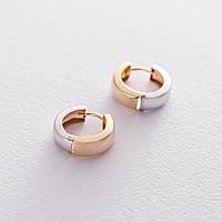 Золотые серьги GS без камней, фото 1