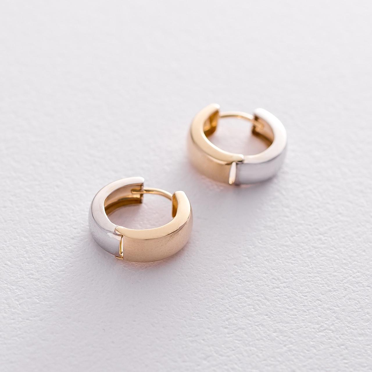 Золотые серьги GS без камней