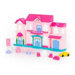 """Ляльковий будинок """"Софія"""" з набором меблів і автомобілем ( 14 елементів) 78018 DreamMakers"""