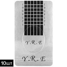 Формы для наращивания YRE 25091 серебро узкие утолщенные 10шт