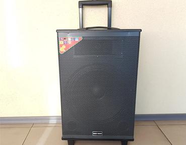 Акустическая переносная колонка Rock Music 65Вт 12 дюймов 68x42x33см USB/SD/FM/BT/1MIC-WIRE RC-1595