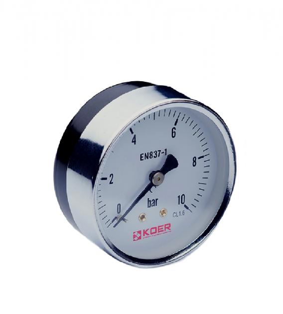 Манометр аксиальный 0-6 bar Koer KM.611A D=63 мм 1/4''