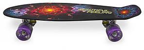 Скейт Пенни борд Penny Print Led 22 New Vandal - Пенні борд 54 см, фото 2