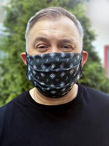 Тканевая двусторонняя хлопковая многоразовая маска