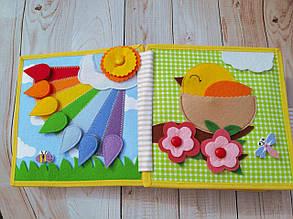 Книжечка-игрушка для детей 15*15 см развивающая ручной работы 11