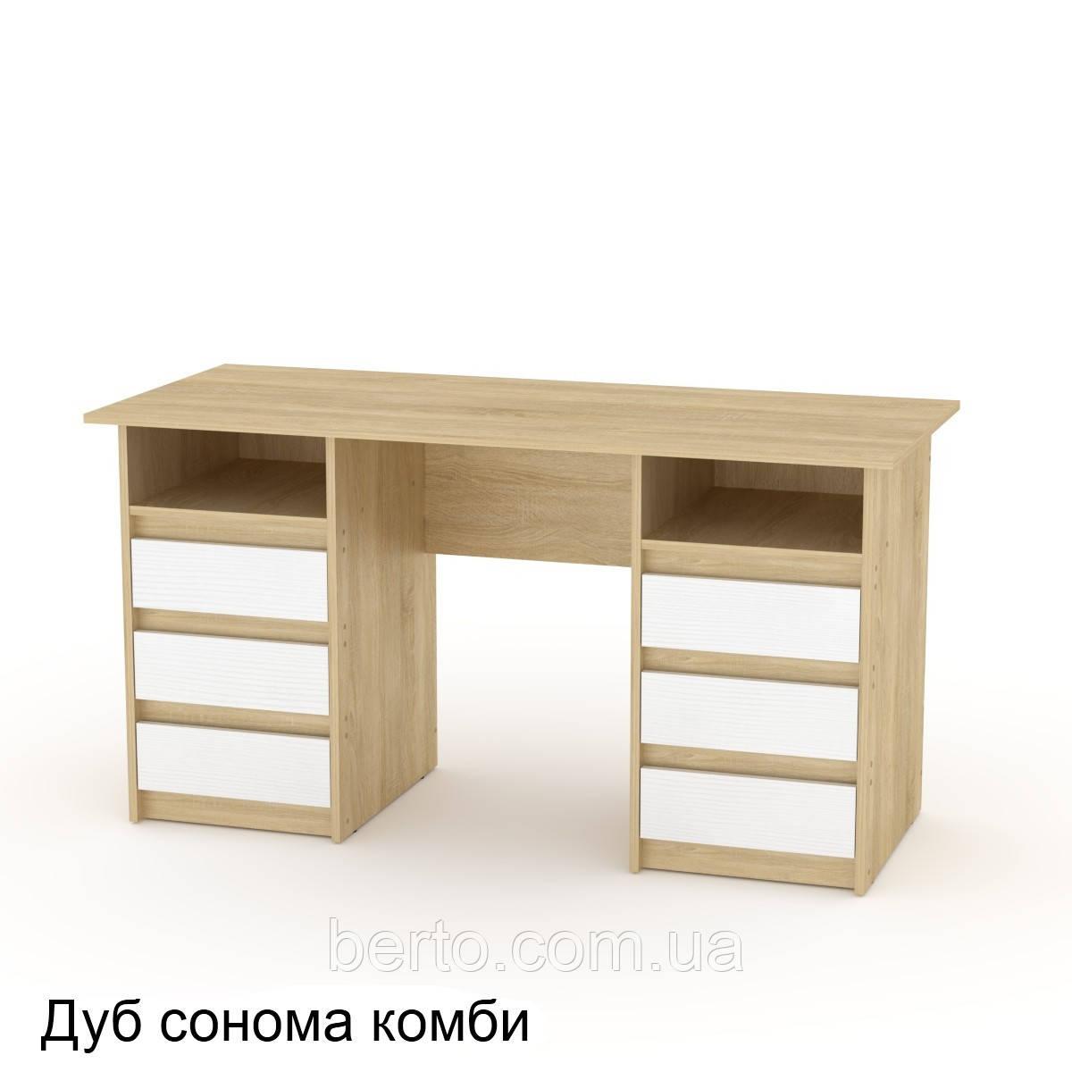 """Стол  письменный """"Декан-3"""" с тумбами 140*60 см."""