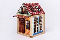 Woodyco Дачный Домик (84 детали) Цветной. Деревянный магнитный конструктор