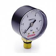Манометр радиальный 0-10 bar Koer KM.610R D=63 мм 1/4''