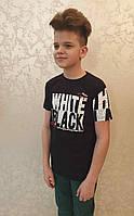 Футболка Blueland на мальчиков 134-170 роста BLACK&WHITE Турция